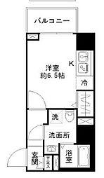 N-stage Toyoda 7階1Kの間取り