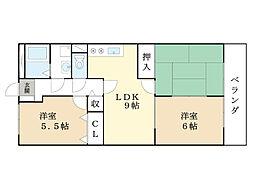 アトリオマンション[1階]の間取り