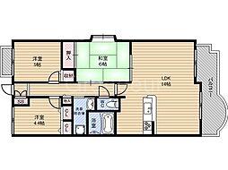 コスモ鶴見緑地[3階]の間取り