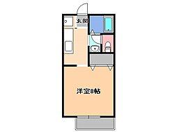 メゾン・ソレイユ[1階]の間取り