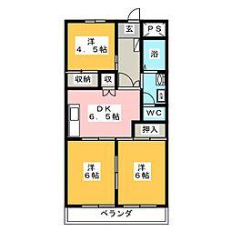 大嶋レジデンス[1階]の間取り