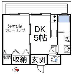 東京都中野区東中野1丁目の賃貸マンションの間取り