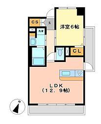 アデグランツ大須[12階]の間取り