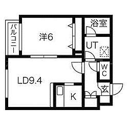 AUGUST(オーガスト)[2階]の間取り