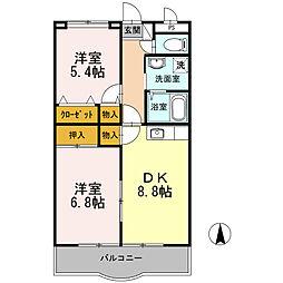 サンフォーレ青葉台[3階]の間取り