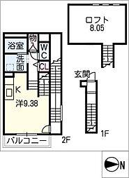 ペガサス[2階]の間取り