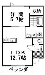 PiattoII 3階1LDKの間取り
