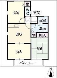 瑞穂パ−クハイツ C棟[1階]の間取り
