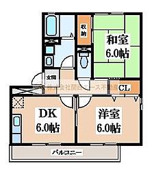 燦コーポ[1階]の間取り