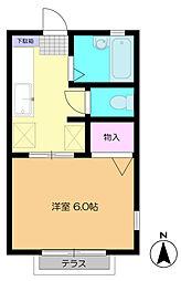 千葉県千葉市中央区栄町の賃貸アパートの間取り