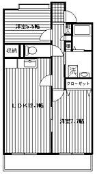 アルテーヌ新横浜[508号室]の間取り