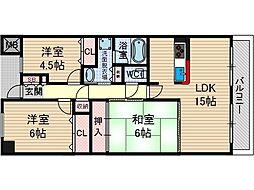 KDXレジデンス茨木2[2階]の間取り