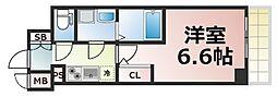 Osaka Metro千日前線 鶴橋駅 徒歩2分の賃貸マンション 10階1Kの間取り
