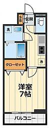 神奈川県大和市代官1丁目の賃貸アパートの間取り