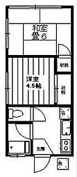 三好荘[201号室]の間取り