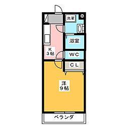 静岡県浜松市中区萩丘2丁目の賃貸マンションの間取り