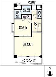 ルネ新生[2階]の間取り