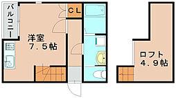 グランチェスタ箱崎[2階]の間取り