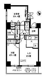 エステージ築地[7階]の間取り