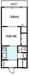 コーポヨネガハマ[302号室号室]の間取り