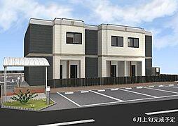 愛知県一宮市開明字桝井戸の賃貸アパートの外観