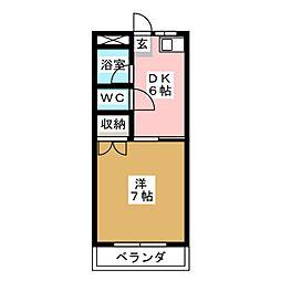 七福マンション[2階]の間取り