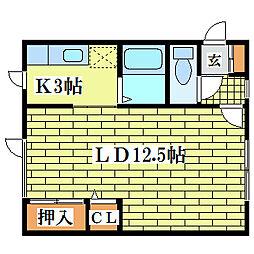さとみマンション[2階]の間取り