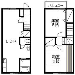 [タウンハウス] 新潟県新潟市西区坂井1丁目 の賃貸【/】の間取り