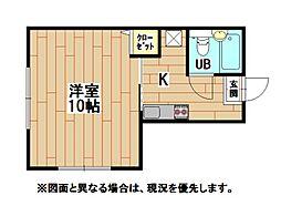 元宮ハイム[2階]の間取り