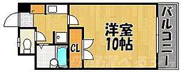 福岡県北九州市小倉南区北方3丁目の賃貸マンションの間取り
