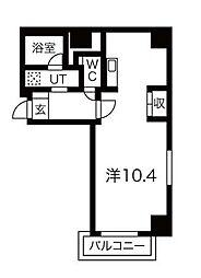 東京メトロ日比谷線 三ノ輪駅 徒歩9分の賃貸マンション 3階ワンルームの間取り