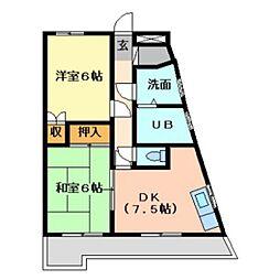 稗田アカマツハイツ[102号室]の間取り