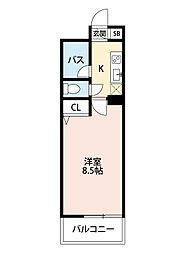 ヴィヴァーチェ浅川[3階]の間取り