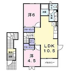 アタラクシアB[2階]の間取り