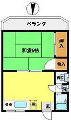 第三藤コーポ[1階]の間取り