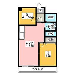 コトブキ第1ビル[2階]の間取り