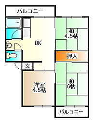有野台7号棟[5階]の間取り