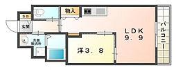 ユニヴァリィティグレ[2階]の間取り