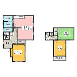 [一戸建] 愛知県稲沢市平和町西光坊大門南 の賃貸【/】の間取り