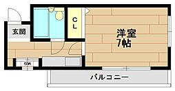 六甲セレスコート[3階]の間取り