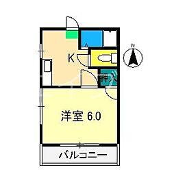 ハイツミーナ[2階]の間取り