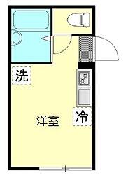東京都大田区南蒲田2丁目の賃貸アパートの間取り