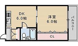 バウハイム[3階]の間取り
