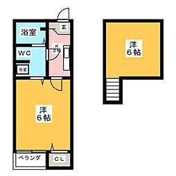 ベネフィスタウン井尻1[1階]の間取り