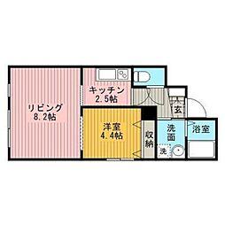 ファーム田村松並[4階]の間取り