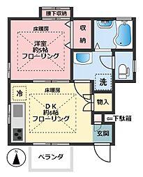 リバーサイドプチ[1階]の間取り