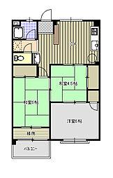 紫房苑1号棟C[2階]の間取り