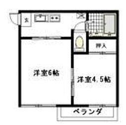 神奈川県相模原市南区若松1丁目の賃貸アパートの間取り