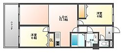 ヨーロピアン博多[4階]の間取り