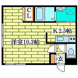 CASA清田[3階]の間取り